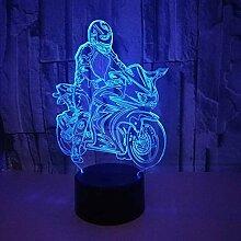 Nachtlicht 3D Touch Led Nachtlicht Reiten Motorrad