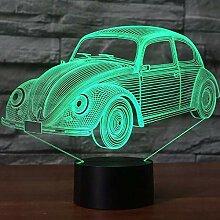 Nachtlicht 7 Farben Visuelle Käfer Auto