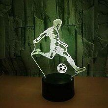 Nachtlicht Fußball Spielen 3D Nachtlicht Bunte