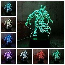 Nachtlicht Illusion Lampe Cool Black Panther