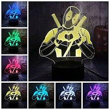 Nachtlicht Illusion Lampe Nette Marvel Superheld