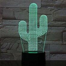 Nachtlicht Kaktus LED Nachtlicht USB Touch Sensor
