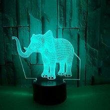 Nachtlicht Kreative Elefanten Modell Lampe Bunte