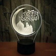 Nachtlicht Kreative Märchen Wort 7 Farbwechsel 3D
