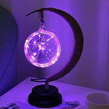 Nachtlicht, LED Retro handgemachte Leinen Eisen