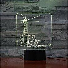 Nachtlicht Leuchtturm Usb 3D Led Nachtlicht Lampe