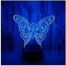 Nachtlicht Lichter New Butterfly Bunte 3D-Licht