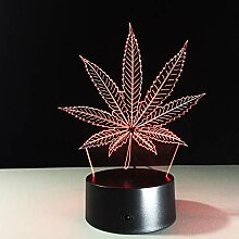 Nachtlicht Maple Leaves 3D Visuelle Illusion Lampe