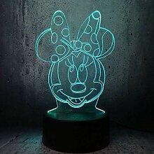 Nachtlicht Nette Mickey Mouse 3D Kopfform