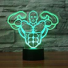 Nachtlicht Optical Illusion Lamp Aerobic Muscle