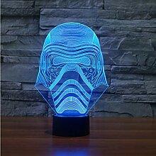 Nachtlicht Optical Illusion Lamp Star Wars Weiße