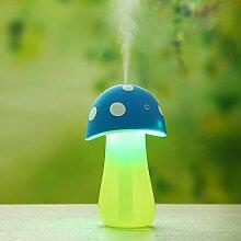 Nachtlicht Pilzbefeuchter Büro USB Luftbefeuchter , blue