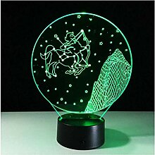 Nachtlicht Schütze 3D Lampe Zwölf Sternbilder