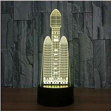 Nachtlicht Space Shuttle 7 Farben X Lampe 3D