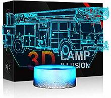 Nachtlichter für Kinder, Auto, 3D-Nachtlicht,