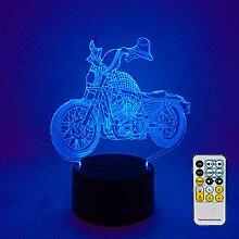 Nachtlichter für Kinder, Motorrad-Modell-Lampe,