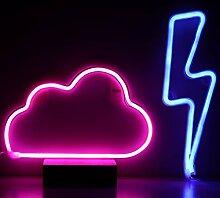 Nachtlichter für Kinder, Neonschilder, 2 Stück,
