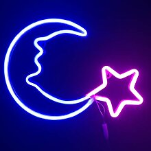 Nachtlichter für Kinder, Neonschilder, Blau,
