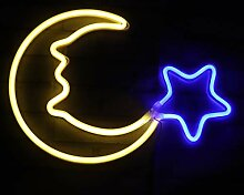 Nachtlichter für Kinder, Neonschilder, warmweiß,