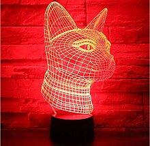 Nachtlichter Katze Seite Mit 7 Farben Licht Für