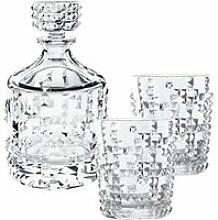 Nachtmann Punk Glas Set mit Whisky Karaffe 3-tlg.