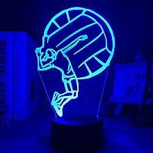 Nachtsicht-Licht 3D Illusion lampe USB-Kabel