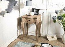 Nachttisch, 1 Schublade, Kiefer antik