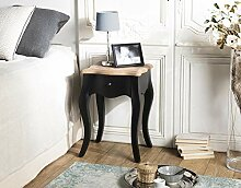 Nachttisch, 1 Schublade, Kiefer, antik