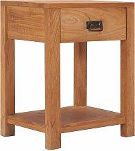 Nachttisch 35×35×50/cm Massivholz Teak - Youthup