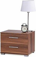 Nachttisch 'Sissi' Nachtschrank Nachtkonsole Nachtkommode, Farbe:Kernnuss
