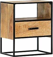 Nachttisch 40 x 30 x 50 cm Massivholz Mango 13592