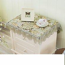 Nachttisch cover/bedeckung-tuch/im europäischen stil kühlschrank tuch/klimaanlage tv cover/pastorale stoff bespannt serviette/kleine tischdecke/decken handtücher-B 150x150cm(59x59inch)