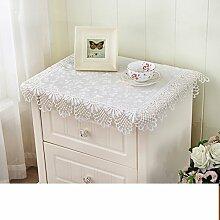 Nachttisch cover/bedeckung-tuch/im europäischen stil kühlschrank tuch/klimaanlage tv cover/pastorale stoff bespannt serviette/kleine tischdecke/decken handtücher-D 110x110cm(43x43inch)