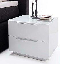 Nachttisch in Weiß 2 Schubladen