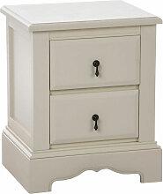 Nachttisch Isabella-weiß