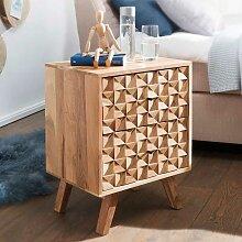Nachttisch Kommode aus Akazie Massivholz