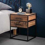 Nachttisch Kommode aus Hartholz und Stahl 45 cm