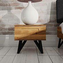 Nachttisch Kommode aus Wildeiche Massivholz und