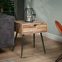 Nachttisch Kommode in Holz Grey Wash