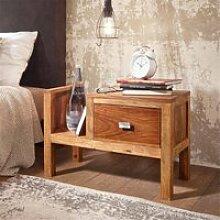 Nachttisch Massiv-Holz Sheesham Nacht-Kommode hoch