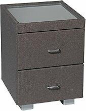 Nachttisch MONDO 1500 Beistelltisch Betttisch Nachtkommode für ihr Schlafzimmer in 30 Stoffe oder T-Leder verschiedenen Farben, Stoff - Leder Auswahl:T-Leder Snova 3261
