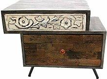 Nachttisch,Nachtschrank aus Holz, Kommode,