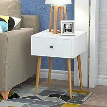 Nachttisch Nachttisch Schlafzimmer Massivholz Weiß Nachttisch Montage Lagerung Lagerschrank ( Farbe : B , größe : 40*40*56 )