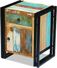 Nachttisch Recyceltes Massivholz VD09707 - Hommoo