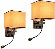 Nachttisch Wandlampe x2 moderne LED Leselampe