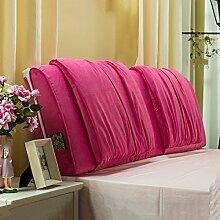 Nachttisch weiche Taschenkissen Bett Große Rückenlehne Lange Kissen Bettdecke Lesekissen ( Farbe : Pink , größe : 160*58cm )