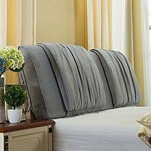 Nachttisch weiche Taschenkissen Bett Große Rückenlehne Lange Kissen Bettdecke Lesekissen ( Farbe : Grau , größe : 150*58cm )