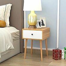 nachttische Nachttisch Schlafzimmer Massivholz Weiß Nachttisch Montage Lagerung Lagerschrank ( Farbe : A , größe : 40*40*56 )