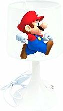 Nachttischlampe für Kinderzimmer, Motiv Mario
