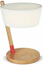 Nachttischlampe Holz Kunst Schlafzimmer Leselampe Schreibtischlampe Nordic ( Farbe : Weiß )